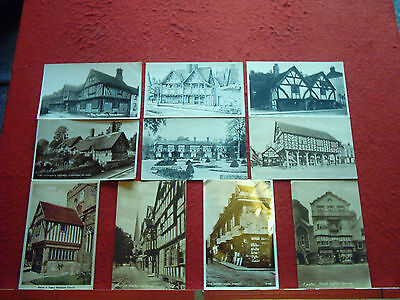 19 Old Postcards UK Old Houses and Buildings Timber framed etc