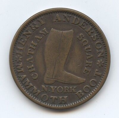 Hard Times Token 1837 HT219 (#6332) Anderson, NY,NY. XF. Carefully Check out the
