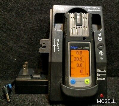 Draeger X-am 2500 Gas Detector O2 CO H2S LEL Warranty Calibrated