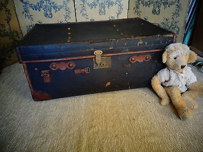 Vintage Leather Bound Travelling Trunk