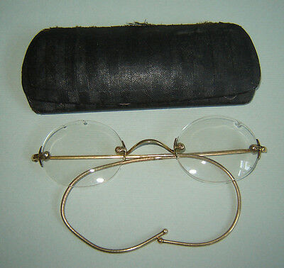 3cae86fd3a9 Antique Old Vintage Eyeglasses SPECTACLES Glasses GOLDPLATED with original  BOX