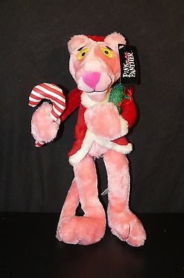 "Pink Panther Christmas Santa Plush 2012 Good Stuff Wreath Hat 16"" Tall With Tag"