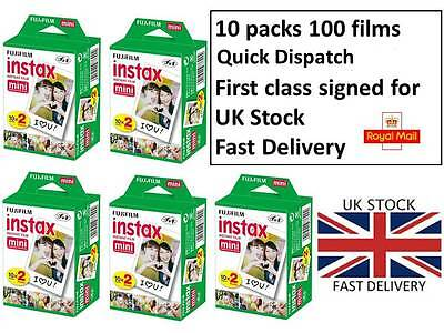 Fujifilm Instax Mini 100 White Film for Fujifilm Mini 7s/8/25/50/90/70