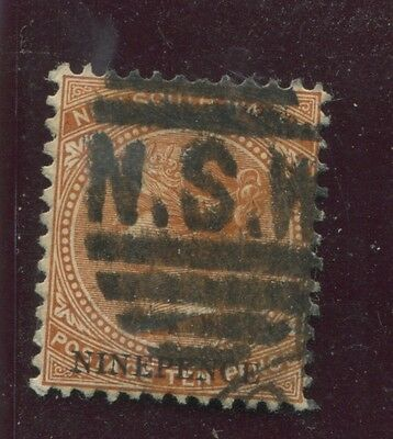 """NEW SOUTH WALES - SG. 236 ( d ) : 1897 """" NINE PENCE SURCHARGE - Perf. 11 x 12 """"."""