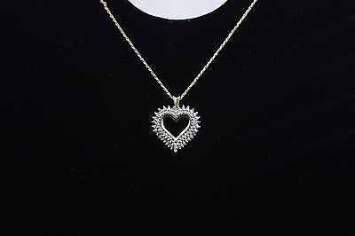 10KT Yellow Gold Necklace with Diamond Heart Pendant