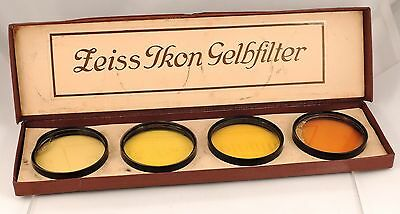 ZEISS IKON GELBFILTER Vintage FILTER FILTERS Ø 52mm with BOX Germany