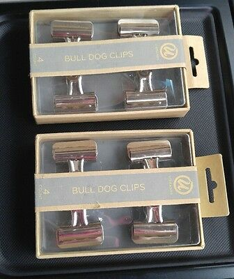 UBRANDS BULL DOG CLIPS 2 BOXES SET OF 4 EACH 8 total office Crafts Paper Project