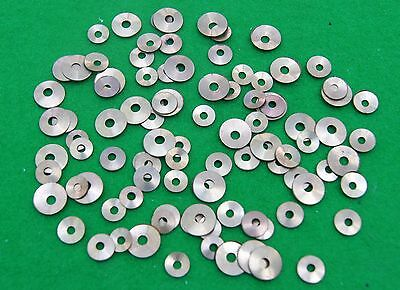 Brass collets/washers with round holes for Antique Clock Repair (pack of 100)