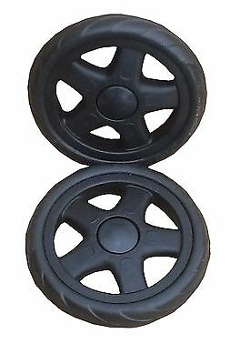 """2 pc 6"""" wheel for grocery shopping cart color black"""