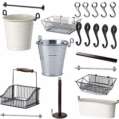 IKEA FINTORP Kitchen Bathroom Accessories Rack Hook Dish Drainer Your Choice NEW
