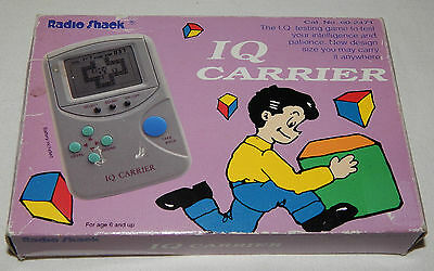 **vintage 1993 Iq Carrier/box World Radio Shack Lcd Handheld Game In Box/boxed**