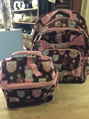 Pottery Barn Kids Owl Backpack With Matching Lunchbox