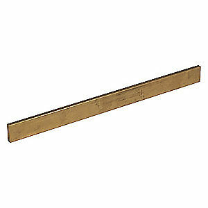 "GRAINGER APPROVED Brass Flat Stock,0.125"",3/4"" W,1 ft., CUREC00942"