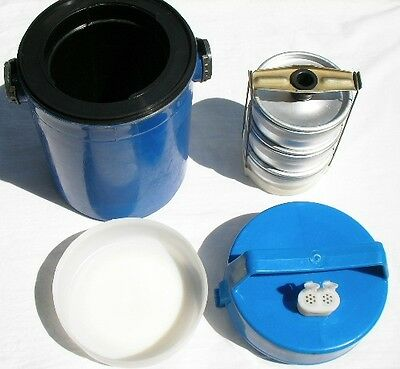 Rare lunchbox from Soviet Union like thermos with aluminum plates/