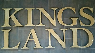 Large Industrial Metal Vintage Shop Sign 3D Letters 20thC Advertising Kingsland