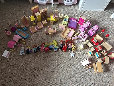 Dolls House with People, Pets & Furniture Bundle