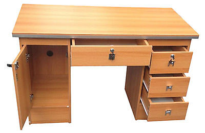 Computer Desk PC Table Home Office Furniture Workstation With Locks in Oak Clr