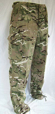 British Army Mtp Camouflage Windproof Combat Trousers - Multicamo - New Mk1