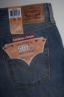 588c62cb LEVI'S 501 CT Women's Customized & Tapered Ripped Jeans - $17.99 ...