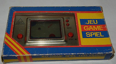 **vintage Ufo Lcd Electronic Handheld Game Wizard & Clock/watch In Box/boxed**