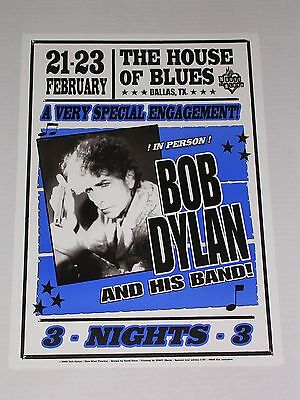 BOB DYLAN & his Band at The HOUSE OF BLUES DALLAS CONCERT POSTER