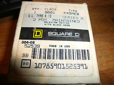 New Square D 9001 Kxsaeb 2-Position Maintained Selector Switch