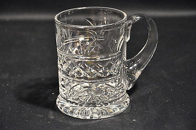 Stuart Imperial Pattern Lead Crystal Glass 1/2 Pint Tankard Unsigned