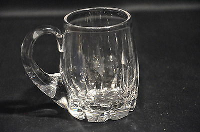 Stuart Lead Crystal Cut Glass 1/2 Pint Tankard Signed 1St Quality
