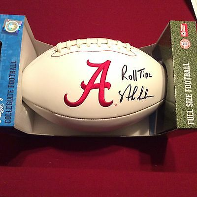 Nick Saban Autographed Alabama Crimson Tide Football Coa And Hologram