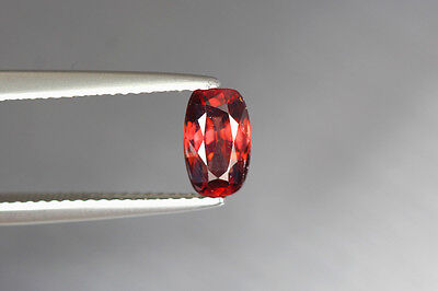 1.500 Cts Full Fire 100% Natural Earth Mine Royal Red Zircon Loose Gemstone~!!!