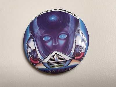 """Vintage 1983 JOURNEY """"FRONTIERS""""  Pin-back Button Pin/Badge"""