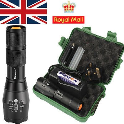 UK X800 Shadowhawk 5000LM Zoomable XML T6 LED Tactical Military Flashlight HOT