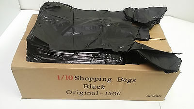 BLACK SHOPPING Plastic T-Shirt Retail BAG Small Size 1/10 Quality Wholesale Lot