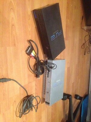 2 Playstation 2 With Cables UNTESTED - No Controller