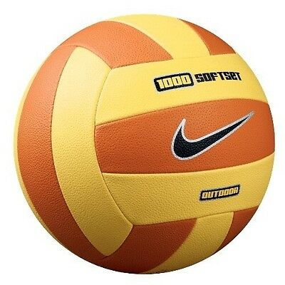 Nike 1000 SoftSet Outdoor Yellow Orange Volleyball Beach Ball Size 5