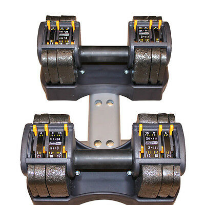 Dumbbell:  3-24 lb.  Adjustable Dumbbell Weight set with stand