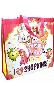 Official Shopkins Reusable Bag Shopping Bag For Life Tote Fold Up Grocery Carry