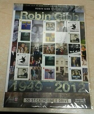 Isle of Man-Robin Gibb special sheet MNH-Music-The BeeGees