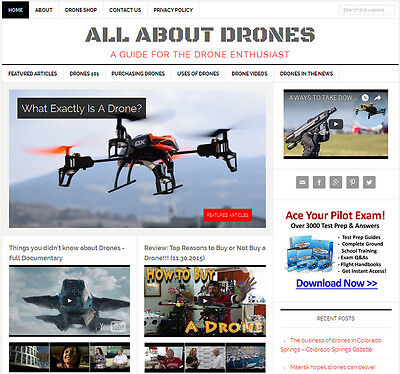 [NEW DESIGN] * DRONES * blog niche website business for sale AUTOMATIC CONTENT!