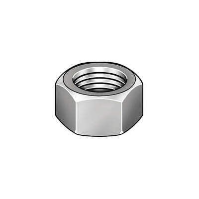 GRAINGER APPROVED Hex Nut,1-1/2-6,Gr 2,ZP,PK10, 320375-PG