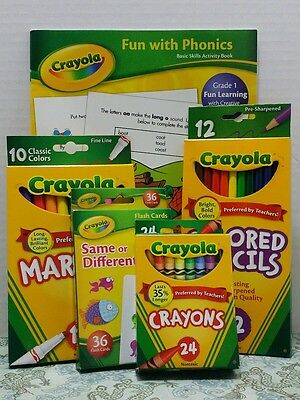 Crayola Stocking Stuffer Gift Set Holiday Presents Crayons Pencils Markers Cards