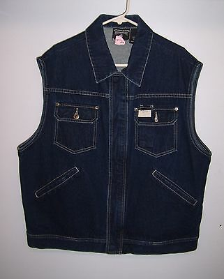 Rocawear Jean Vest Sleeveless Jacket Men size XL