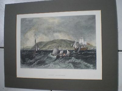 Mount Edgecomb  Cornwall  Drawing Byj.m.w. Turner Scupt E Goodall