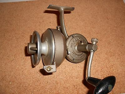 Vintage Luxor Pezon Michel Spinning Reel W/ Rare Aluminum Spool Made In France