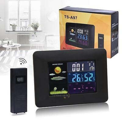 Wireless In/Outdoor Forecast Temperature Humidity Weather Station Alarm Clock