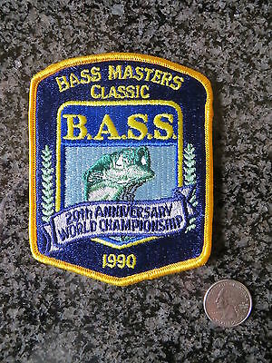 RARE Mint 1990 Bassmasters Classic 20th Annv. Patch - 3 1/2 x 4 1/2 inch