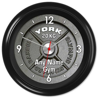 Gym Clock Powerlifting Bodybuilding Weights Keep Fit #2 - Can be personalised