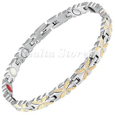 Womens Magnetic Bracelets-Negative IONS+ for Arthritis Therapy & Wellbeing-BFYG