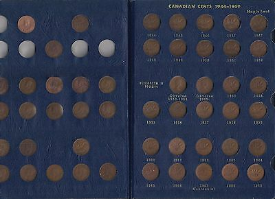 103-Canadian Small Cents 1927 to 2012 + 1920 & 24 + Vintage Album + See More