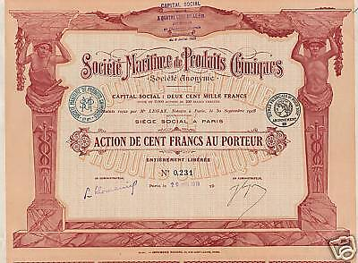 FRANCE MARINE CHEMICAL stock certificate 1919
